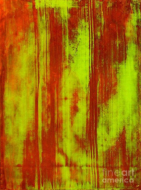 Abstract Art Art Print featuring the painting Bamboo Spy 1 by Teo Santa