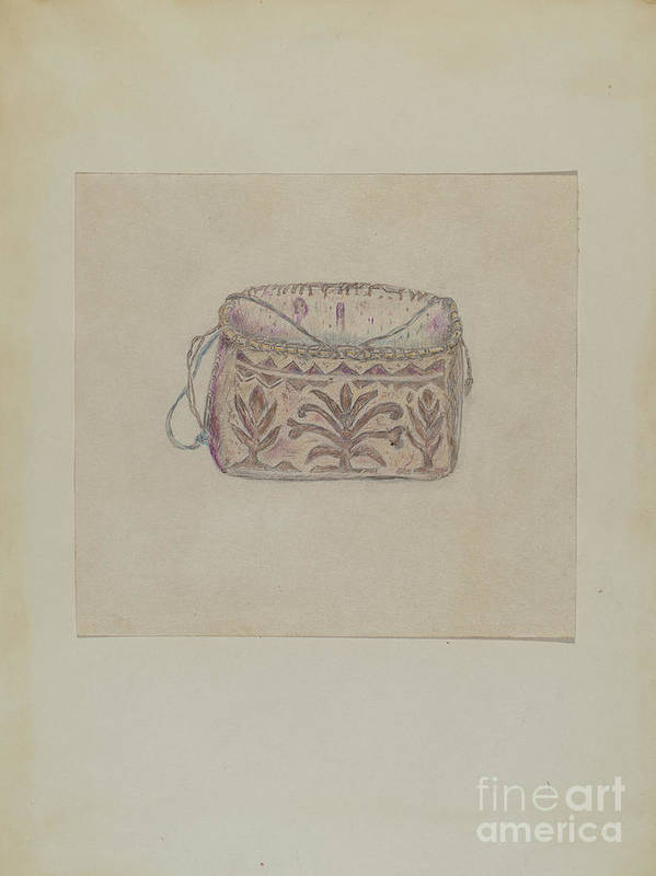 Art Print featuring the drawing Basket by Mary Berner