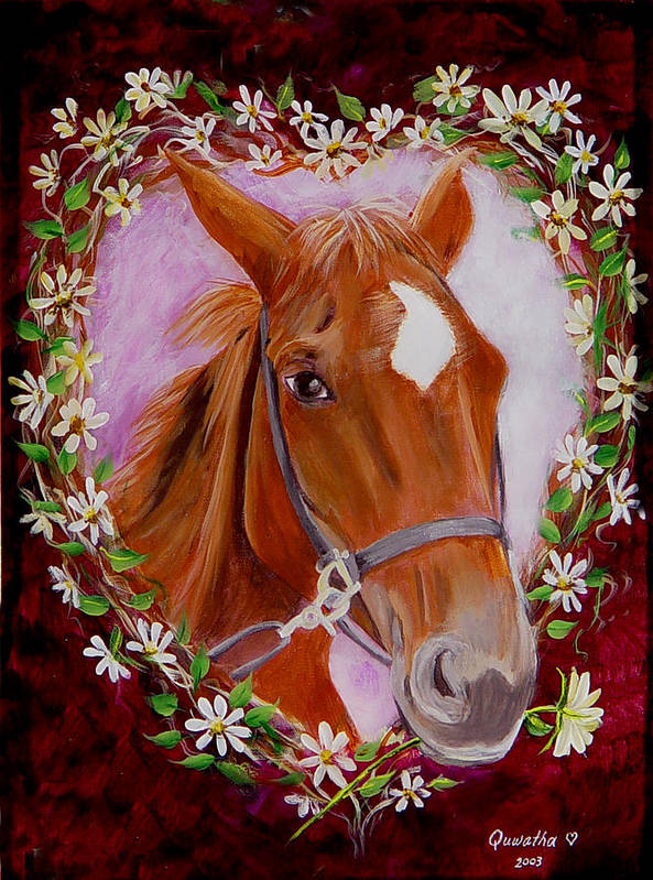 Horse Art Print featuring the painting Batuque by Quwatha Valentine