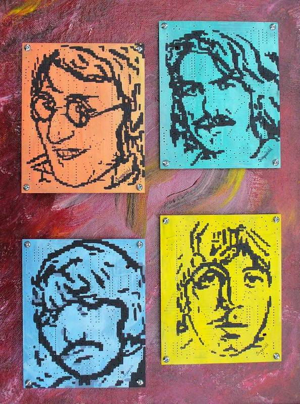 Beatles Art Print featuring the painting Beatles Forever by Cary Singewald