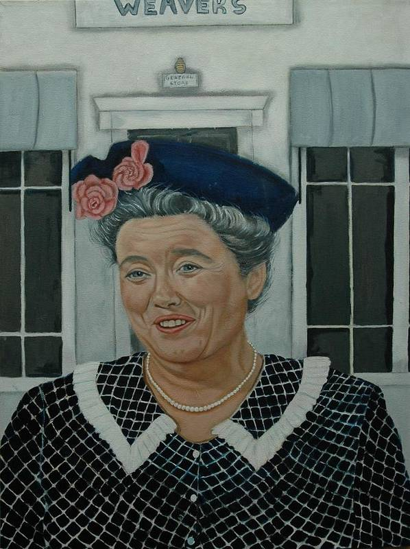 Aunt Print featuring the painting Beatrice Taylor As Aunt Bee by Tresa Crain