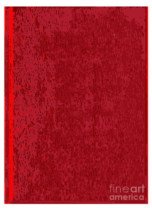 Front Art Print featuring the digital art Blank Red Book Cover by Bigalbaloo Stock