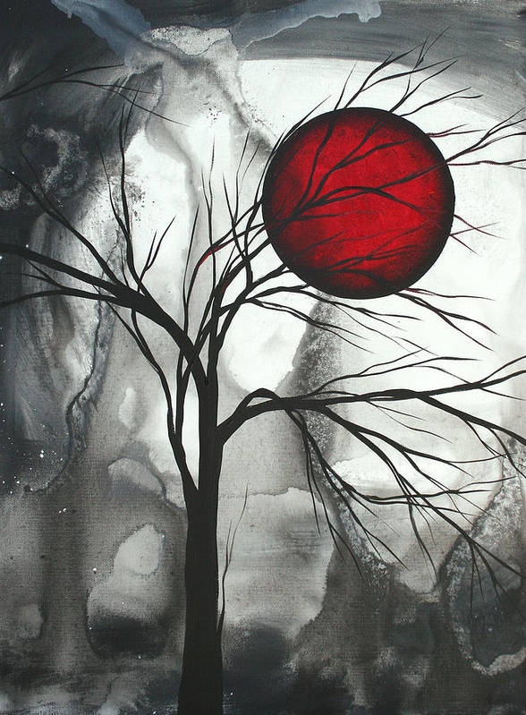 Huge Art Print featuring the painting Blood Of The Moon 2 By Madart by Megan Duncanson