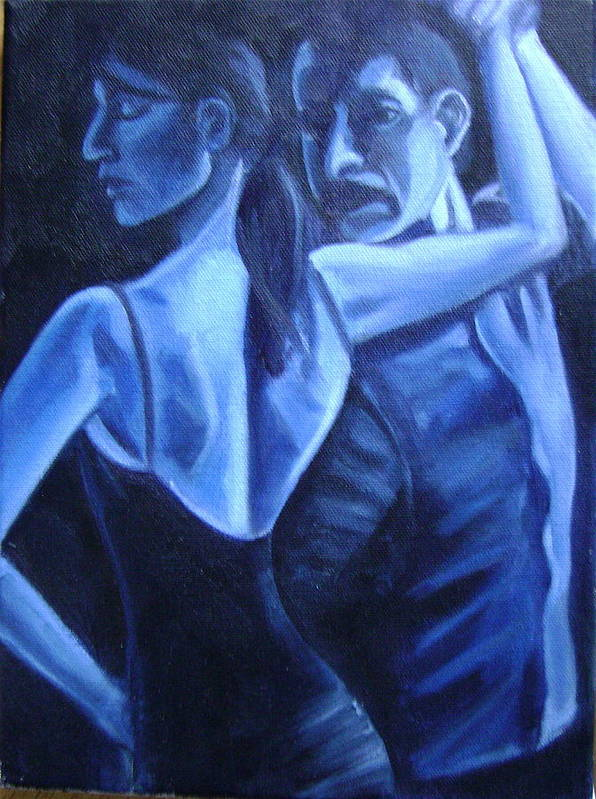 Art Print featuring the painting Bludance by Toni Berry