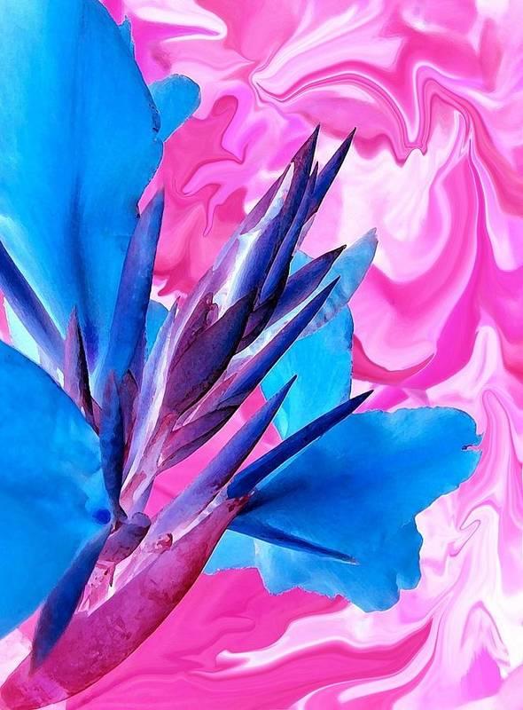 Blue Bird Art Print featuring the photograph Blue Bird Of Paradise by Jim Darnall