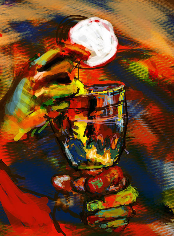 Eucharist Art Print featuring the digital art Body And Blood by James Thomas