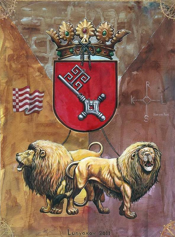 Lunyakov Art Print featuring the painting Bremen by Sascha Lunyakov