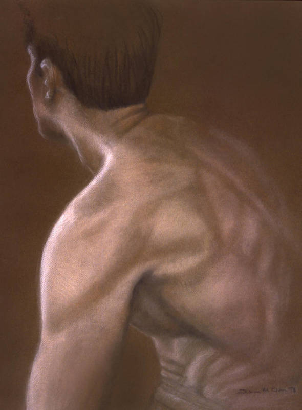 Man Art Print featuring the painting Brown Iv by John Clum