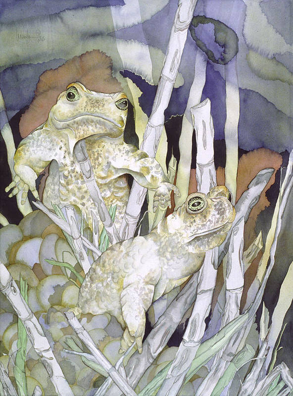 Animals Art Print featuring the painting Bud And Weiss by Liduine Bekman