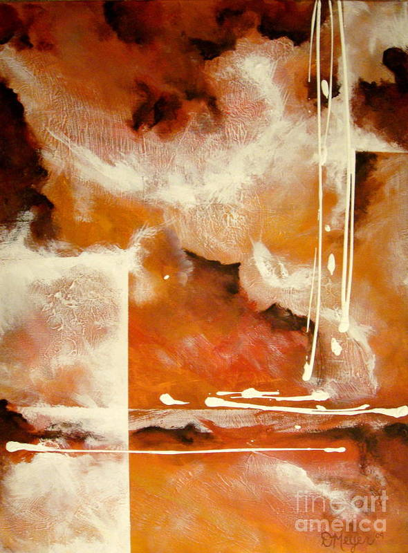 Abstract Art Print featuring the painting Burnt Mist by Dani Marie