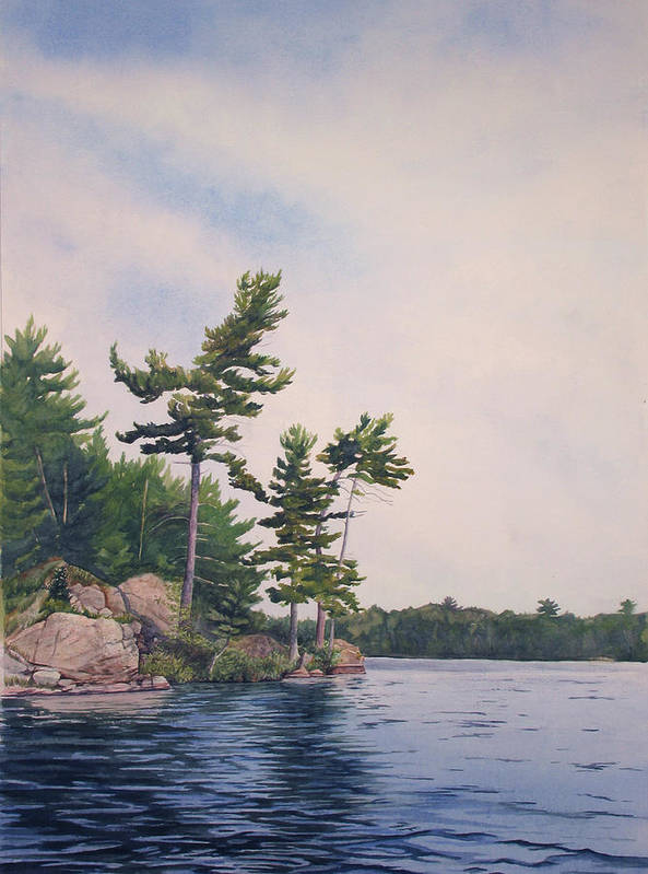 Canadian Shield Art Print featuring the painting Canadian Shield Sculpture No. 2 by Debbie Homewood