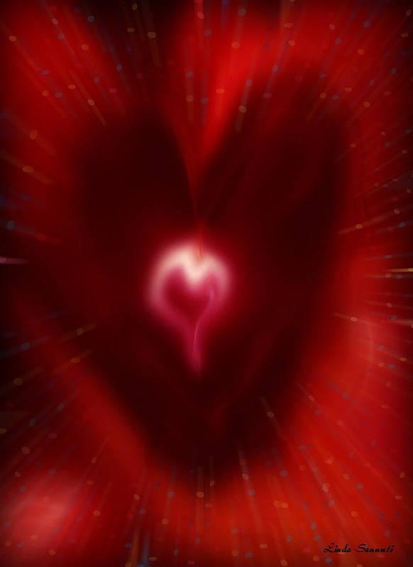 Hearts Art Print featuring the digital art Celebrate Love by Linda Sannuti