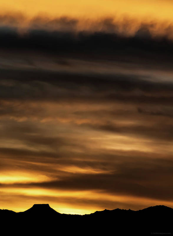 Sunset Art Print featuring the photograph Cerro Pedernal by Britt Runyon
