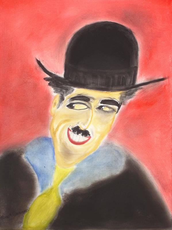 Cinema Film Art Print featuring the painting Chaplin by Roger Cummiskey