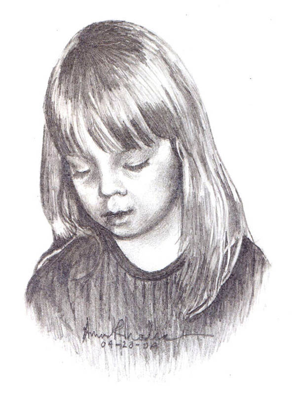 Portrait Art Print featuring the painting Charidy by Anne Rhodes