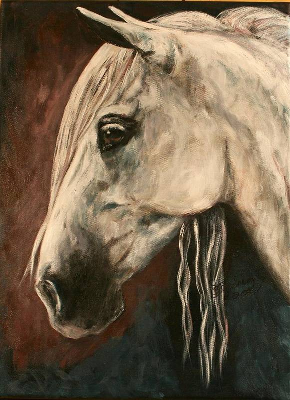 Horse Art Print featuring the painting Chroma by BJ Redmond