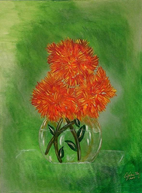 Flowers Art Print featuring the painting Clarity by Ofelia Uz