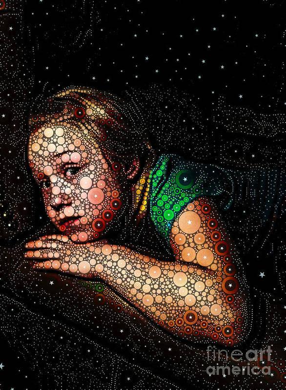 Portrait Art Print featuring the digital art Cosmic Dust by Ron Bissett