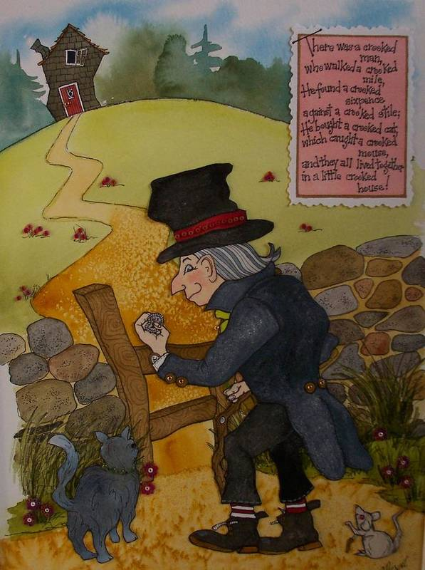 Crooked Man Art Print featuring the painting Crooked Man by Victoria Heryet