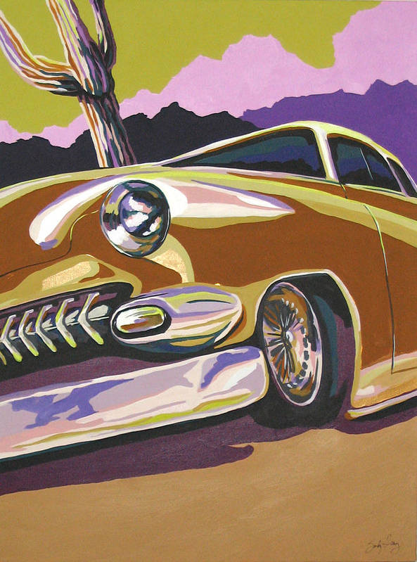 Route 66 Art Print featuring the painting Cruisin by Sandy Tracey