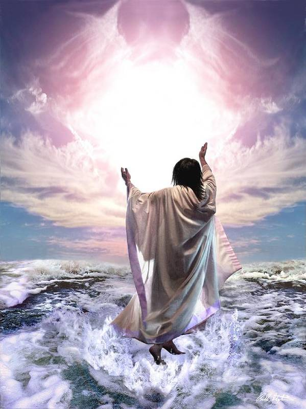 Yeshua Art Print featuring the digital art Dancing For My Father by Bill Stephens