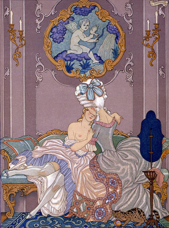 Barbier Print featuring the painting Dangerous Liaisons by Georges Barbier