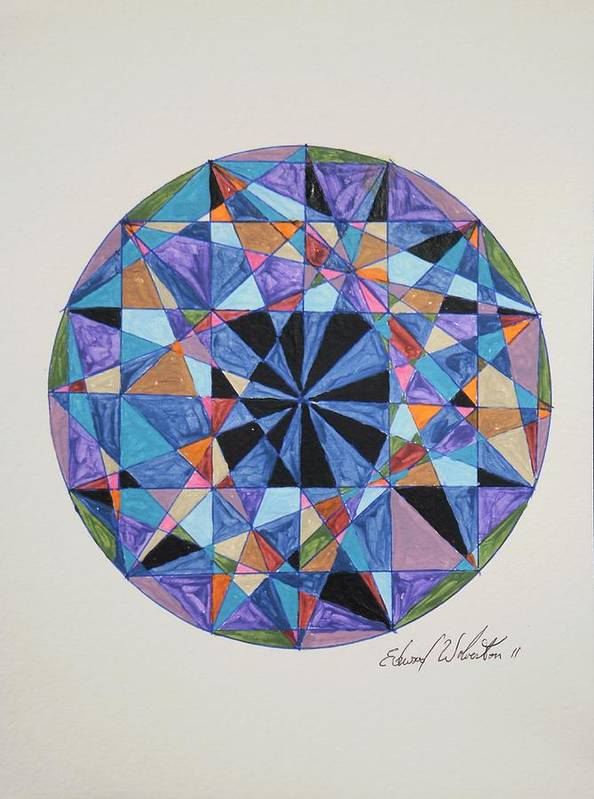 Wheel Art Print featuring the painting Diamonds Are Forever by Edward Wolverton