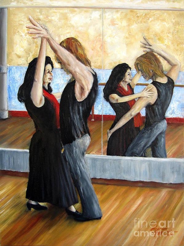 People Art Print featuring the painting Dirty Dancing by Leonardo Ruggieri