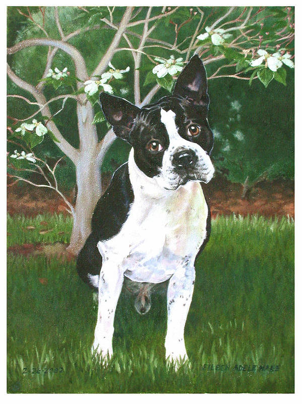 Portrait Art Print featuring the painting Ditto by Eileen Hale