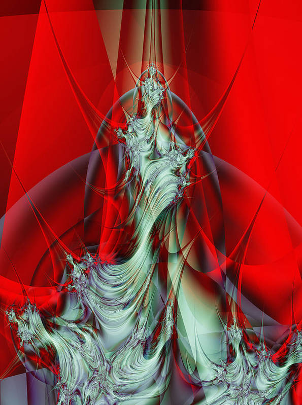 Fractal Art Print featuring the digital art Diva by Frederic Durville