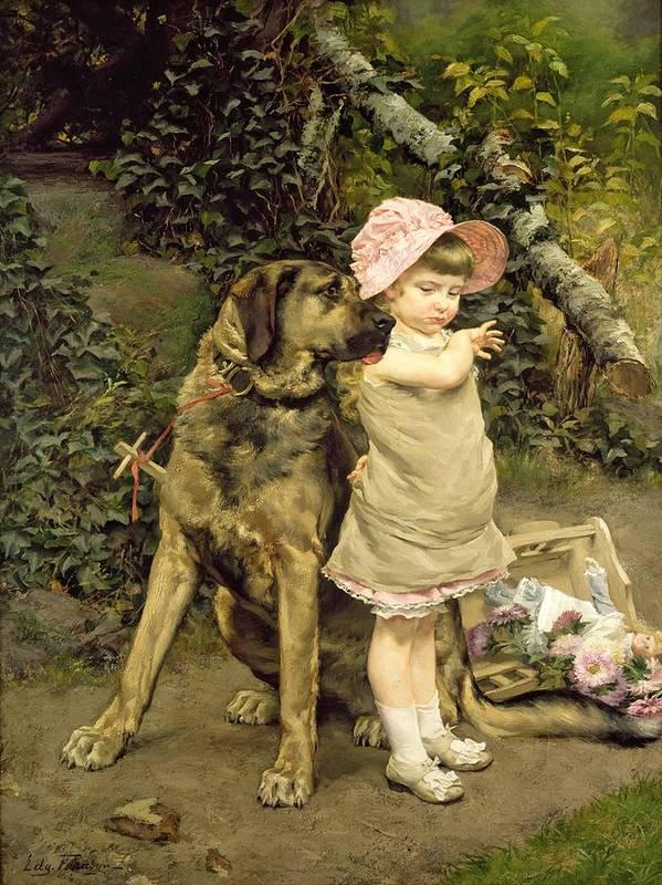 Dog Art Print featuring the painting Dog's Company by Edgard Farasyn