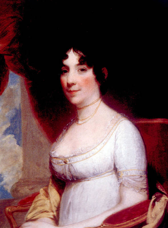 First Lady Print featuring the photograph Dolley Madison 1768-1849, First Lady by Everett