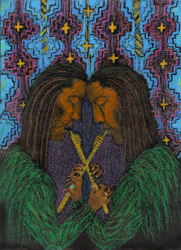Music From The Soul Art Print featuring the painting Duo Gebo by Ingrid Szabo