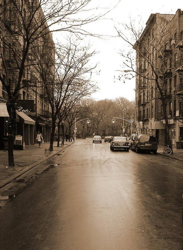 East Village Art Print featuring the photograph East Village In Winter by Utopia Concepts