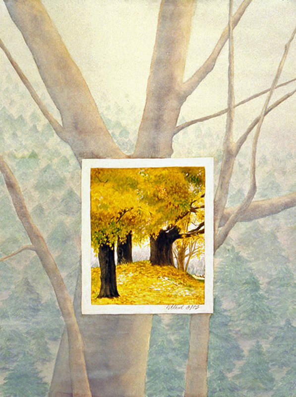 Autumn Art Print featuring the painting Eastern Autumn by Nancy Ethiel