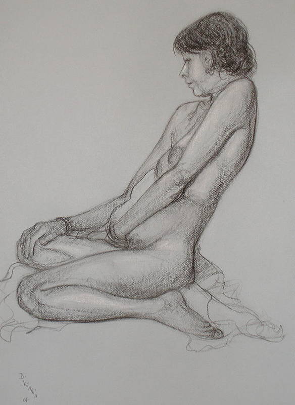Realism Art Print featuring the drawing English Model by Donelli DiMaria