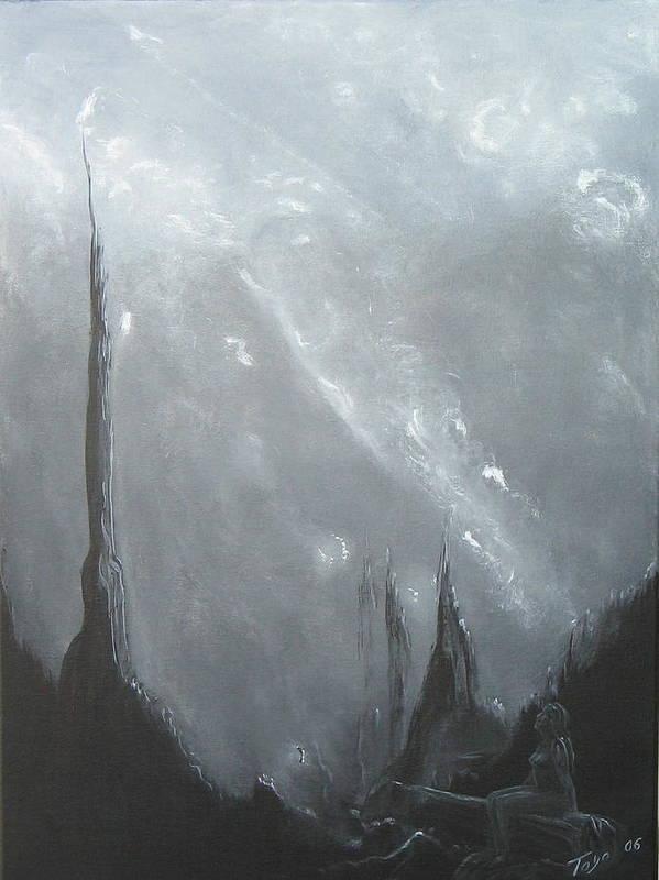 Neblina Art Print featuring the painting Espacio Perdido by Toyo Perez