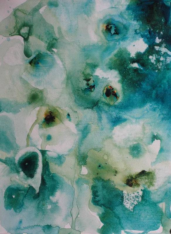 Floral Art Print featuring the painting Essence Of Flower by Elizabeth Carr