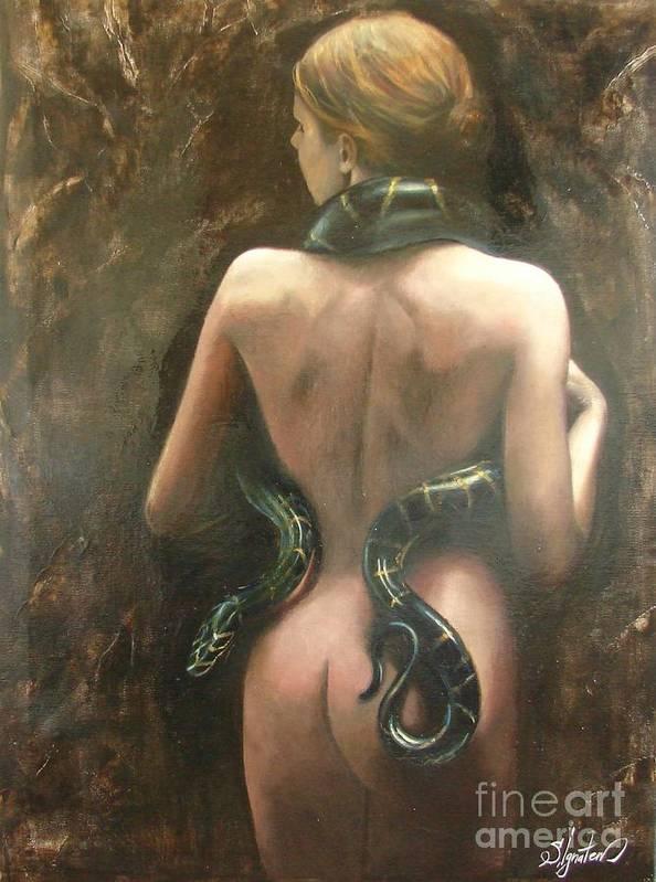 Art Art Print featuring the painting Eva by Sergey Ignatenko