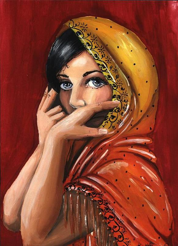 Warm Colors Art Print featuring the painting Eyes by Scarlett Royal