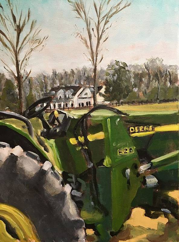 Farm Art Print featuring the painting Farm In Chapel Hill by Susan Elizabeth Jones