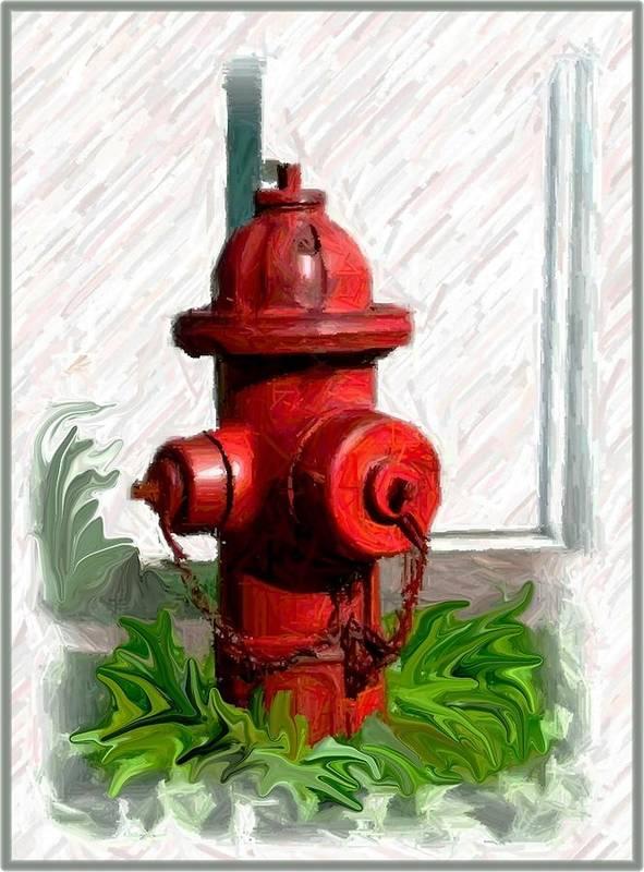 Fire Hydren Art Print featuring the photograph Fire Hydren by Jim Darnall