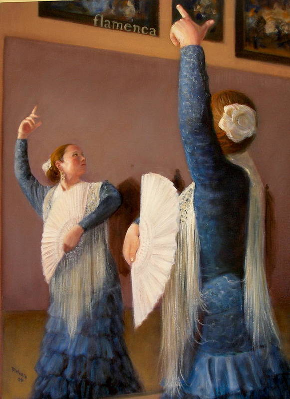 Realism Art Print featuring the painting Flamenco 6 by Donelli DiMaria
