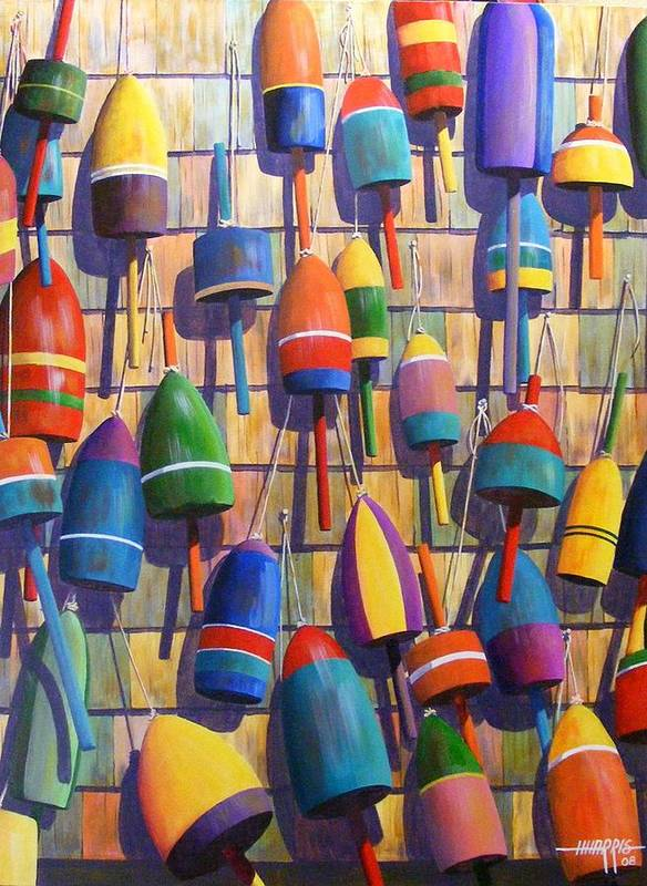 Abstract Art Print featuring the painting Float Wall by Hugh Harris