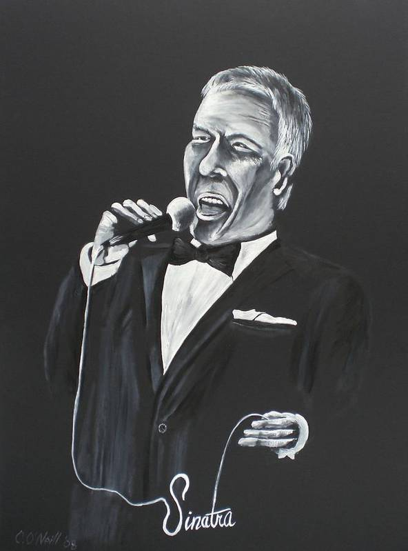 Sinatra Art Print featuring the painting Frank by Colin O neill