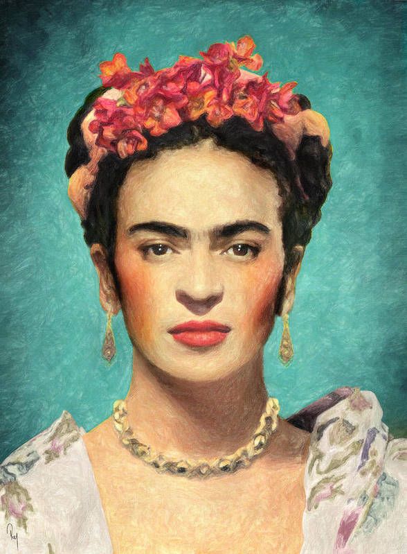 frida kahlo art print by taylan apukovska. Black Bedroom Furniture Sets. Home Design Ideas