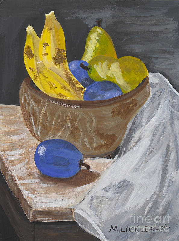 Fruit Art Print featuring the painting Fruit Bowl by Michelle Locklear