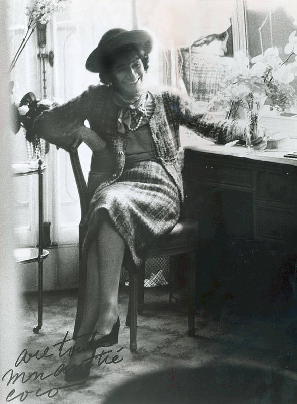 Chanel Art Print featuring the photograph Gabrielle Coco Chanel, C. Mid 1960s by Everett