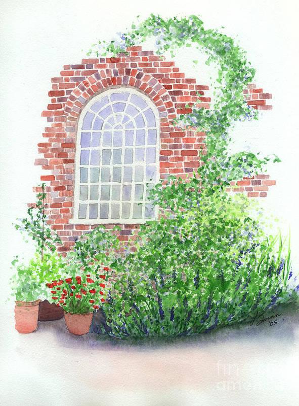Window Art Print featuring the painting Garden Wall by Lynn Quinn