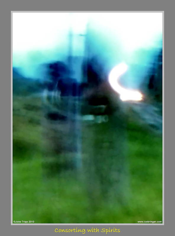Ghost Art Print featuring the photograph Ghosts By The Tracks by Jane Tripp